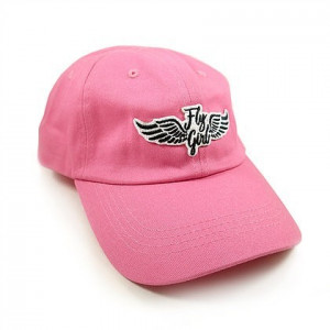PINK BALL CAP W/FLY GIRL WING PATCH
