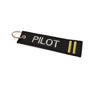 PILOT TWO STRIPE KEYCHAIN