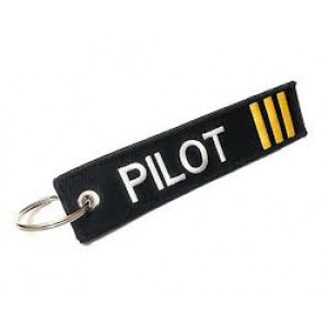 PILOT THREE STRIPE KEYCHAIN