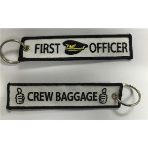 FIRST OFFICER WHITE KEYCHAIN