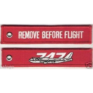 747 RED AND BLACK KEYCHAIN