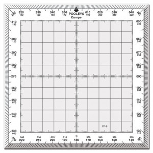 NPP090 PP-9 SQUARE PROTRACTOR WITH WHITE BORDER