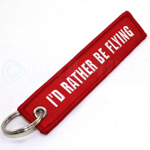 I ' D RATHER BE FLYING RED keychain