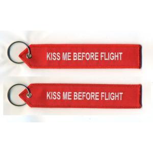 KISS ME BEFORE FLIGHT keychain