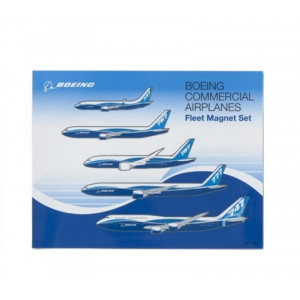 BOEING FLEET AIRCRAFT MAGNETS 737 THRU 777 - 5 PIECES