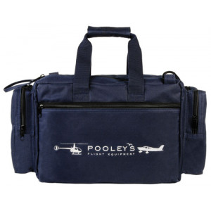 POOLEYS PILOT'S FLIGHT BAG (NAVY BLUE )