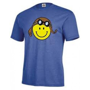 AVIATOR SMAILY FACE T SHIRT XXL