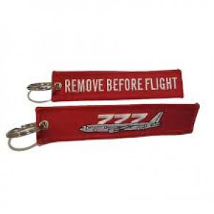 Remove Before Flight - Boeing 777 Keychain