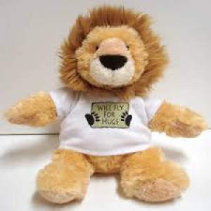 LION W/FLY FOR FOOD T-SHIRT STUFFED ANIMAL    دمية