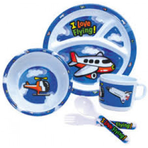 KIDS PLATE, BOWL, CUP, SP/FK SET