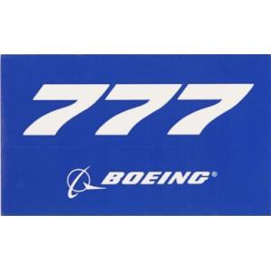 777 BLUE STICKER BOEING