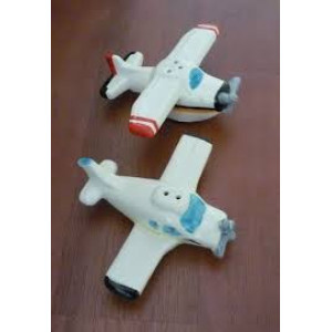 GENERAL AVIATION SALT AND PEPPER SHAKERS