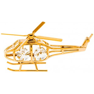 CHOPPER CRYSTAL GOLD PLATED