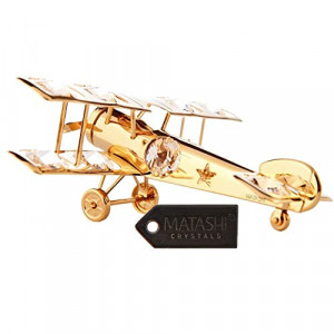 CESSNA CRYSTAL GOLD PLATED