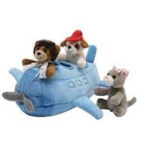 Airplane w/ 3 Puppet Pals Plush Toy  دمية