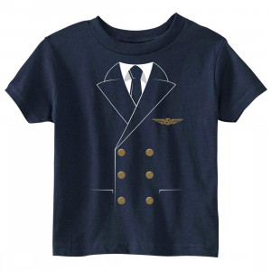 The Pilot Uniform T-Shirt - Toddler Navy
