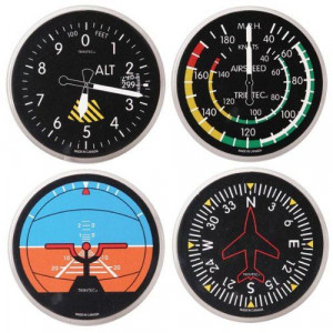AVIATION INSTRUMENT COASTERS