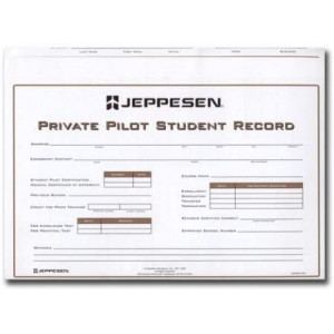 jeppesen Private Pilot Student Record Folder