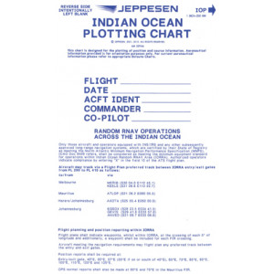 Jeppesen Indian Ocean Plotting Chart