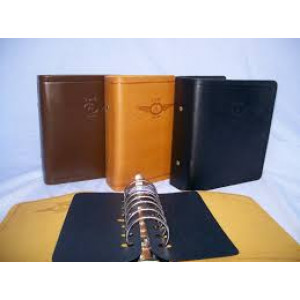 LEATHER BINDER-2INCH BRN