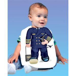 Airline Pilot Baby Bib