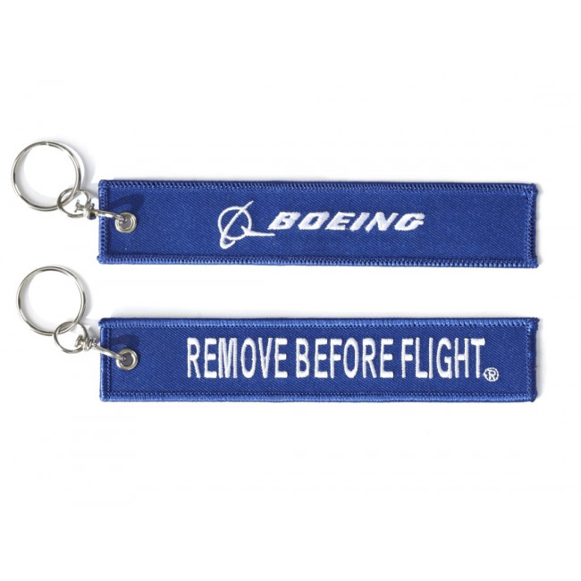 REMOVE BEFORE FLIGHT BLUE BOEING