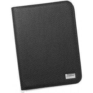 Carbon Fiber Print Padfolio with Calculator by Boeing